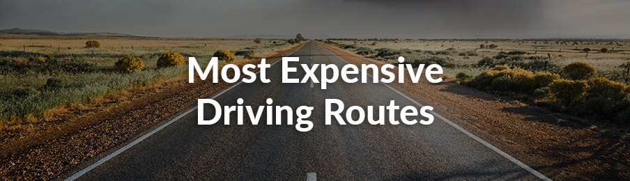 Most expensive driving routes in Australia banner