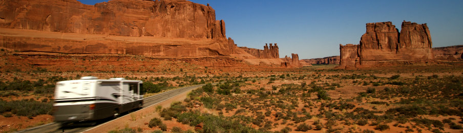 motorhome hire in Arches National Park in Utah