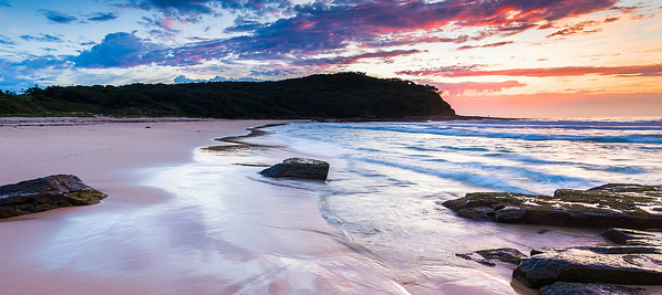 beautiful view of NSW beach