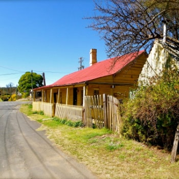 Historic buildings on streets of Sofala, NSW