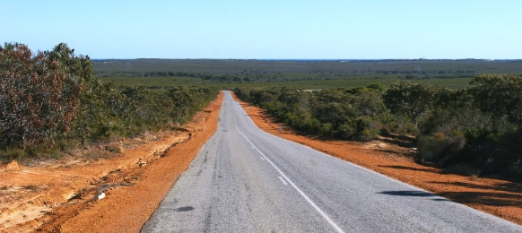open road from outback WA