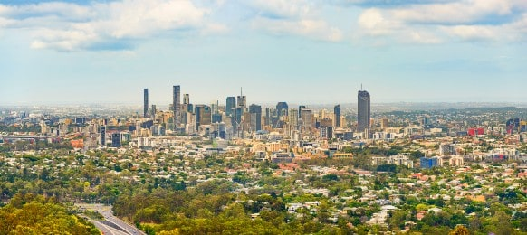 panorama of brisbane city australia