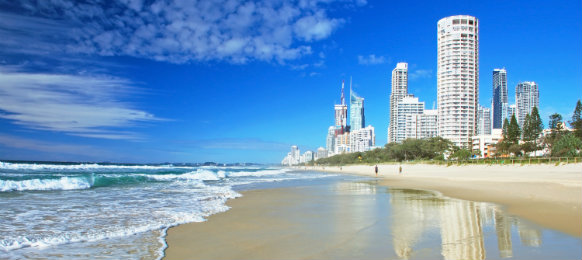 paradise beach in gold coast