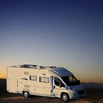 parked campervan hire