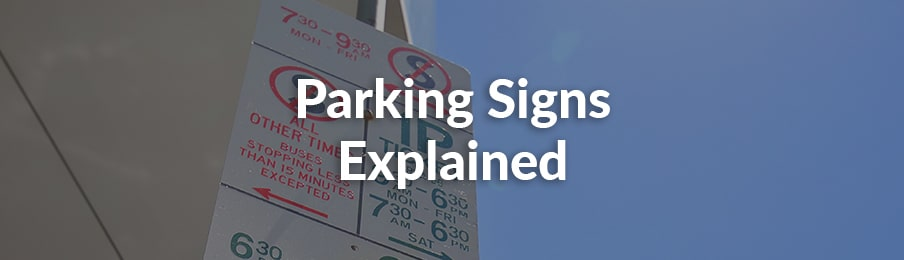 parking signs explained