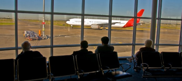 passengers waiting at adelaide airport