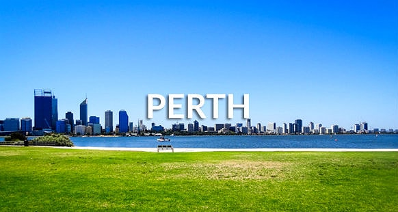 Cityscape of Perth during day time from Kings Park, Western Australia