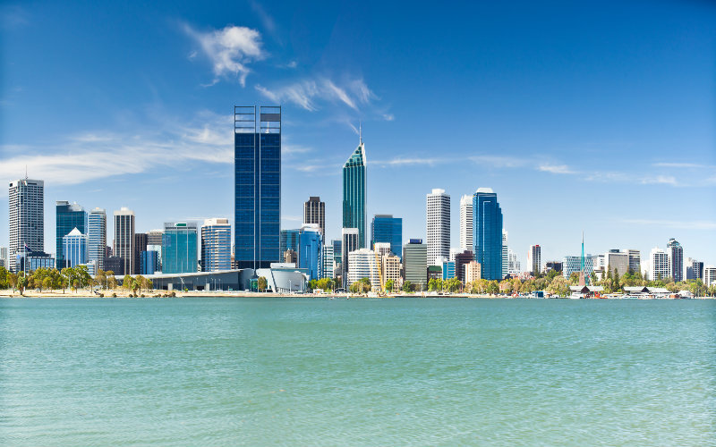 Perth Skyline Swan River
