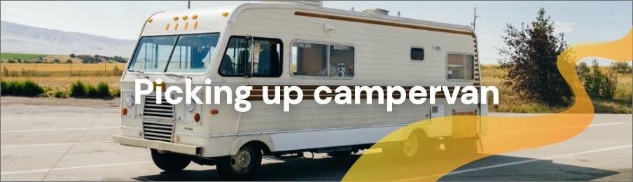 Picking up campervan
