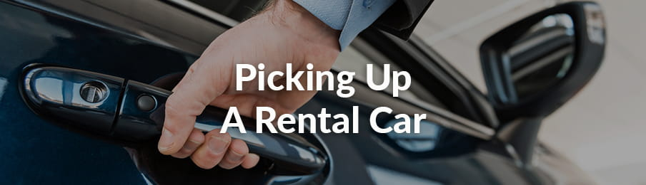 Picking up your rental car in AU banner
