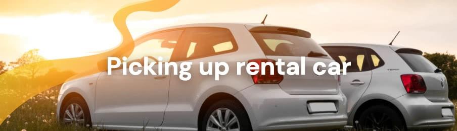 Picking up rental car