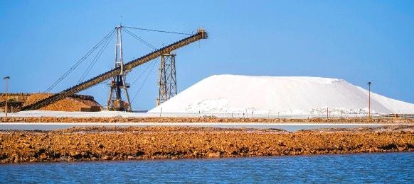 port headland salt mining at pilbara region