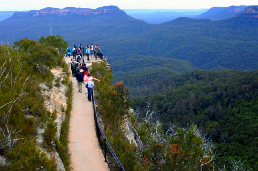 Prince Henry Cliff Walk in Katoomba, NSW, AU