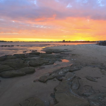 queensland coastline in the evening