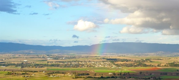 Rainbow over Bathurst, NSW