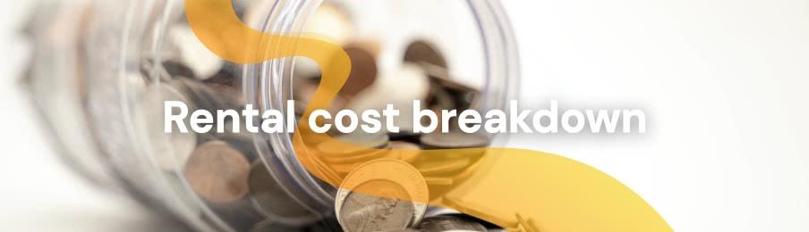 Rental cost breakdown