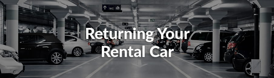 Returning your rental car banner