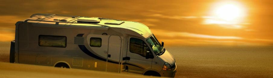 campervan on a road trip