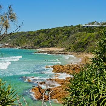 sandy bay at coolum sunshine coast