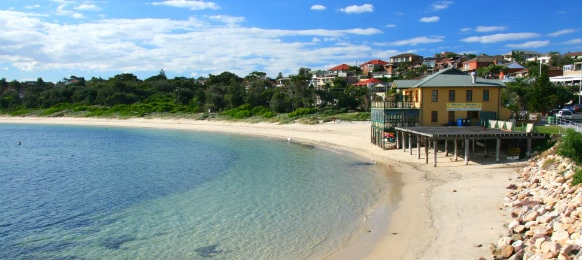 sandy beach, botany bay in sydney australia