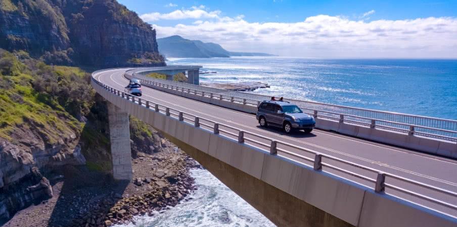 Scenic view of Sea Cliffe Bridge, NSW, AU