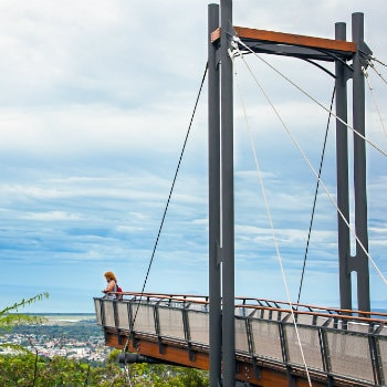 Forest Sky Pier lookout at Coffs Harbour