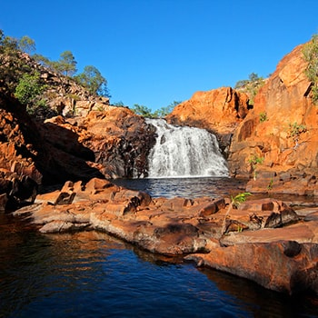 Small waterfall at Kakadu National Park, Northern Territory, AU