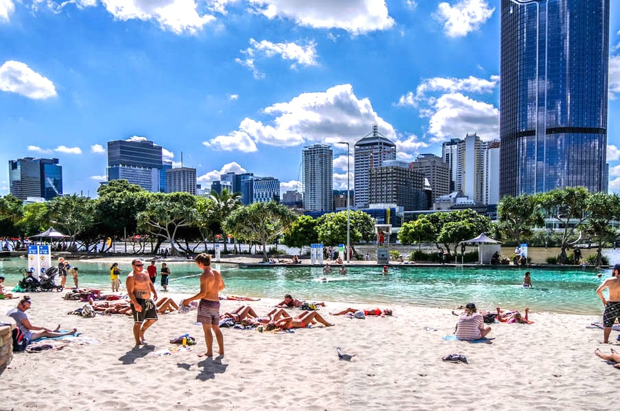 Streets Beach in South Bank, Brisbane by Beer and Croissants