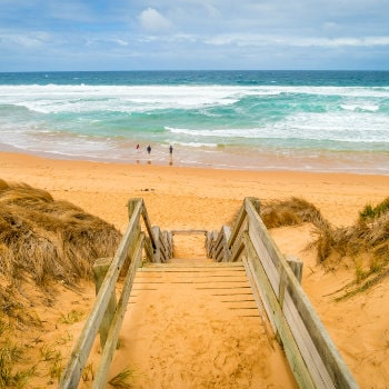 stairs from woolamai beach in phillip island