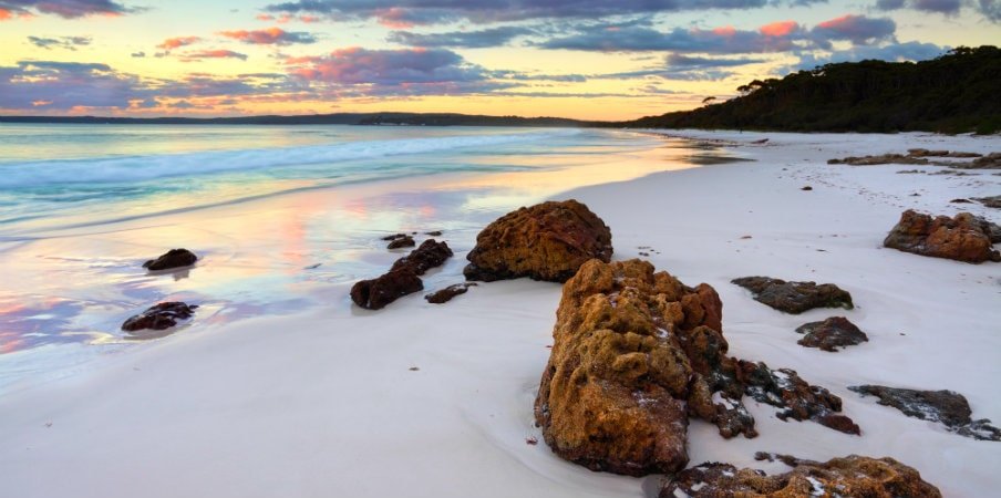 sunrise at hyams beach nsw