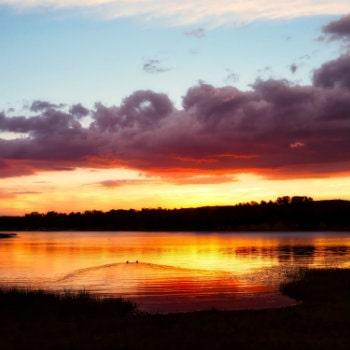 sunset at storm king dam queensland