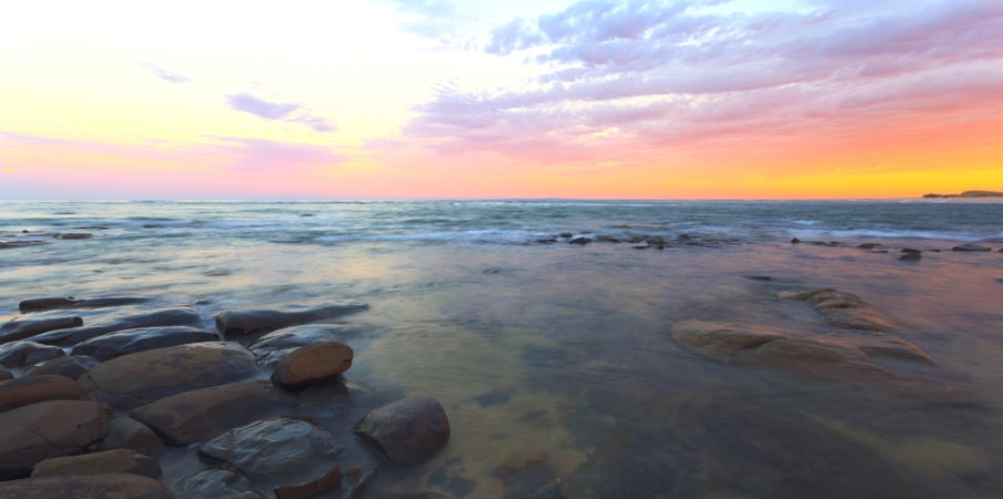 sunset view in queensland coastline