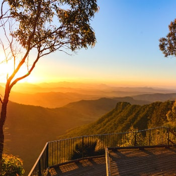 sunset view at gold coast hinterland