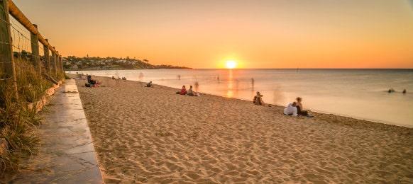 sunset watching at the frankston beach