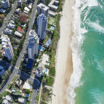 Aerial image of Surfers Paradise beach