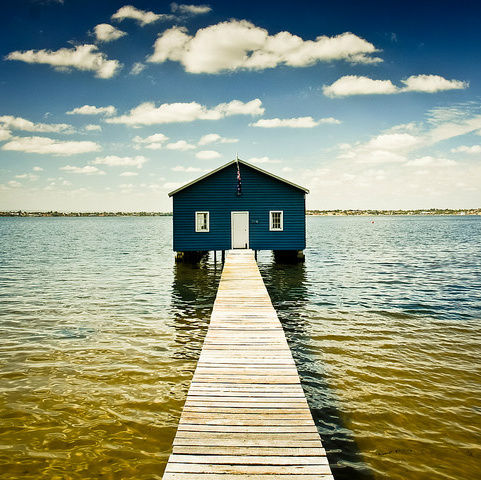 boatshed on the swan river