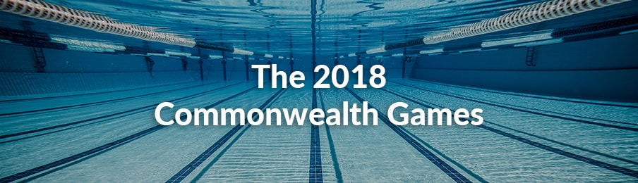 Swimming pool under water at Commonwealth Games