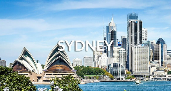 Sydney Opera House and Sydney central business district