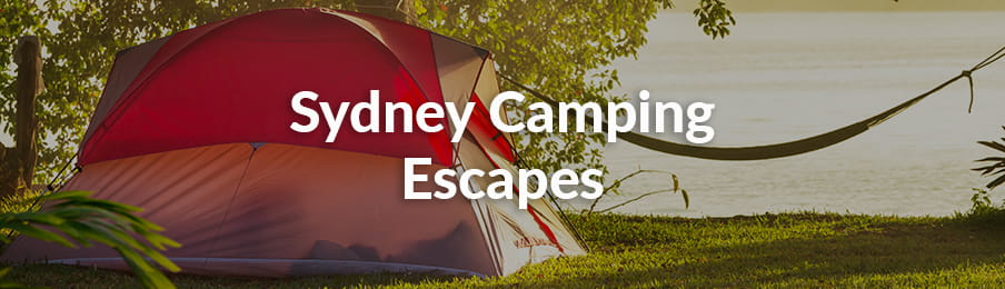 Sydney camping escapes in Australia banner
