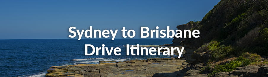 Sydney to Brisbane Drive Itinerary guide banner