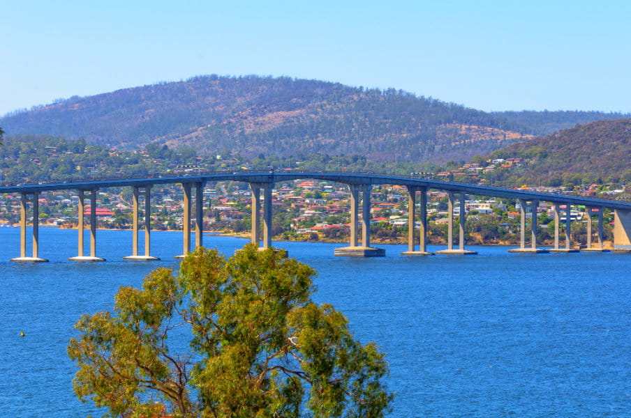 Tasman Highway Bridge at Hobart, Tasmania, AU