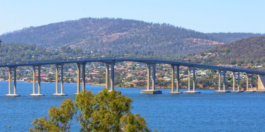 Tasman Highway Bridge at Hobart, Tasmania, AU