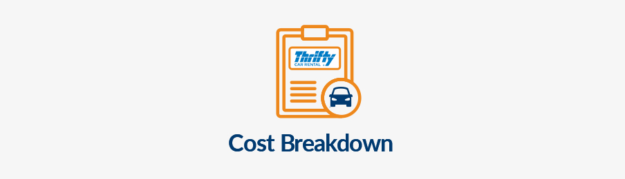 Thrifty cost breakdown AU banner
