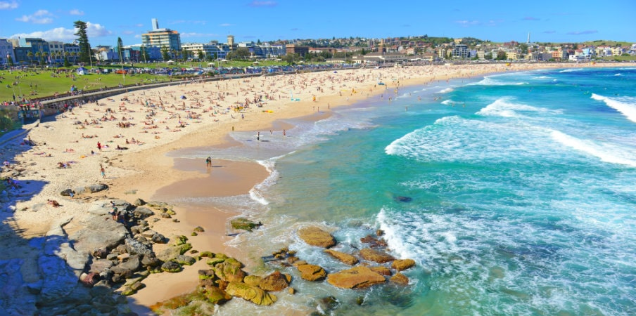 view of bondi beach during summer