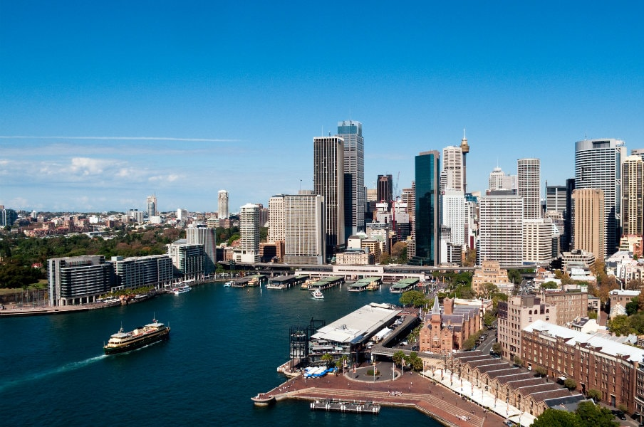 amazing view of circular quay in sydney