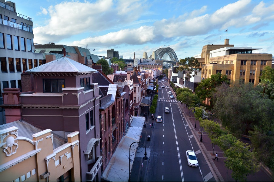 view of george street at the rocks in sydney