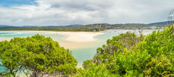view of merimbula during summer in new south wales