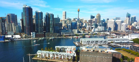 view of sydney cbd and darling harbour