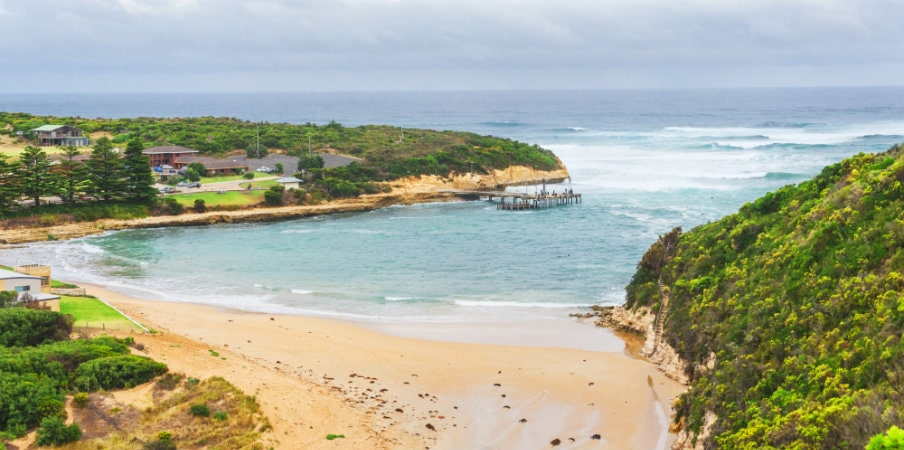 view towards port campbell